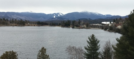 View from Mirror Lake Inn in Lake Placid New York. Photo by Peggi Fournier