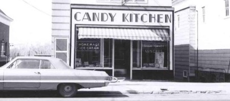 Candy Kitchen on Main Street in Webster sometime in the mid 1960s