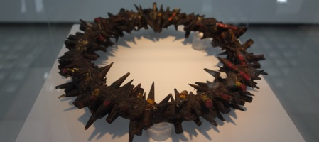 A crown of thorns made with pencils by Bernardi Roig, an artist from Palma de Mallorca