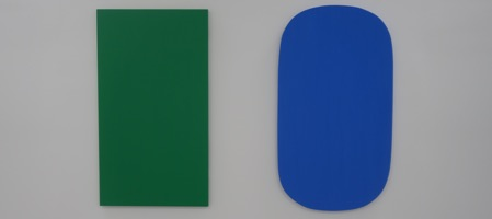 One of Ellsworth Kelly's last paintings at Matthew Marks Gallery in Chelsea.
