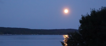 Full moon over Torch Lake