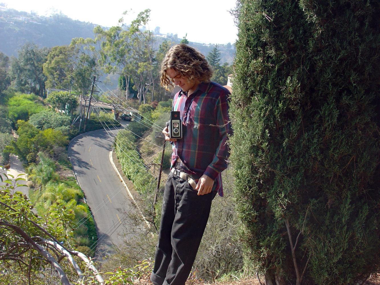 Andrew with his medium format Kodak camera