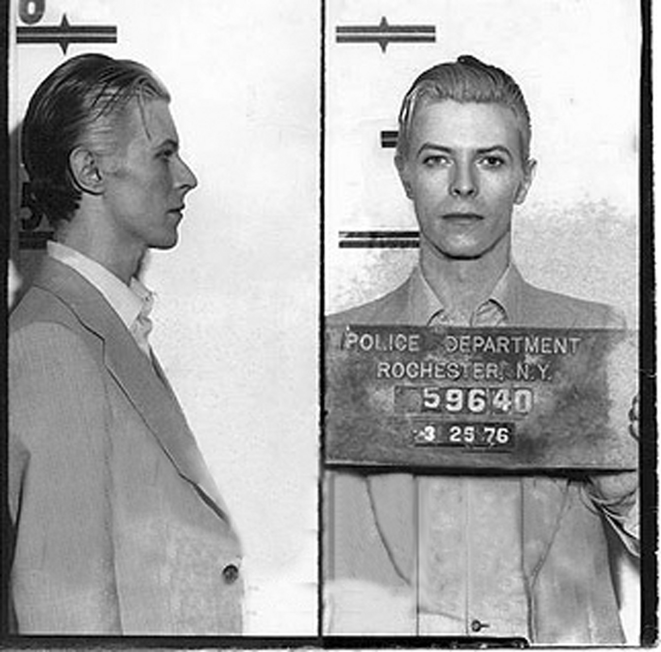 David Bowie performed in Rochester, New York in 1976 and was arrested for pot possesion after the show.