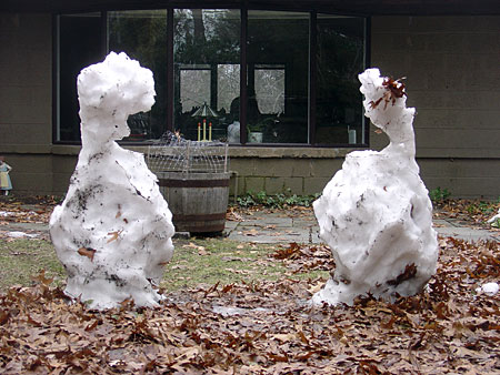 Snowmen melting