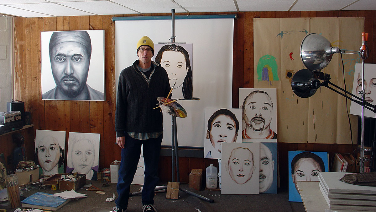 Paul Dodd Painting In Studio
