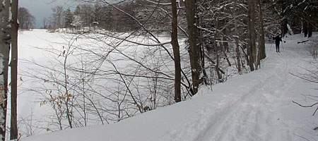 Peggi Skiing in Durand Eastman Park