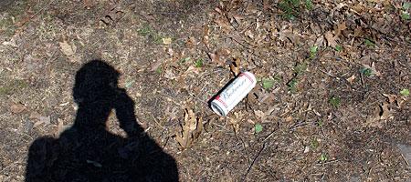 24 ounce can of Budweiser