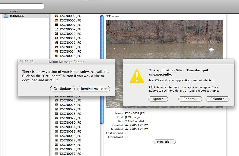 Nikon P5100 error messages
