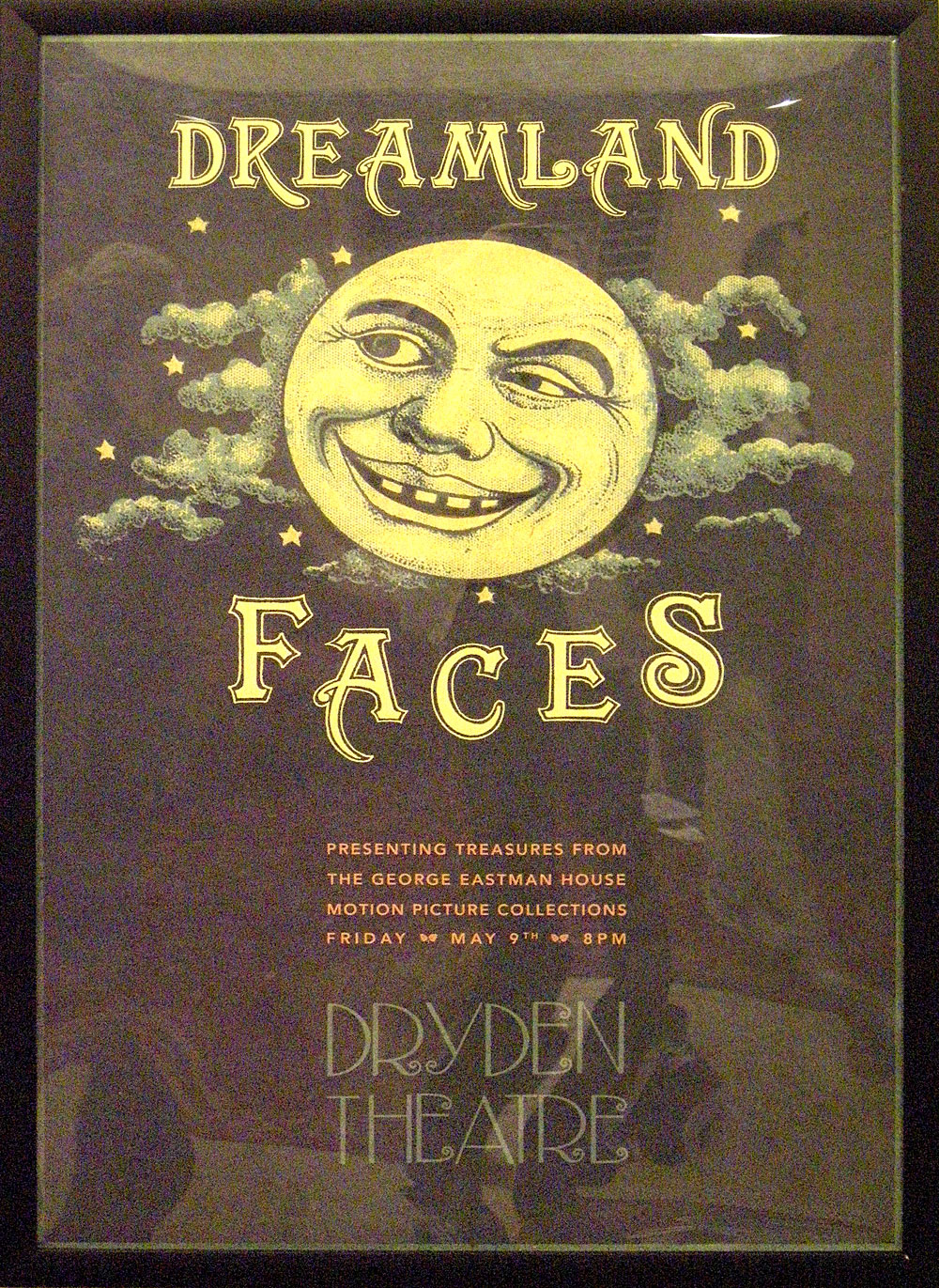 Dreamland Faces Poster for Dryden Theater at Geaorge Eastman House in Rochester, NY