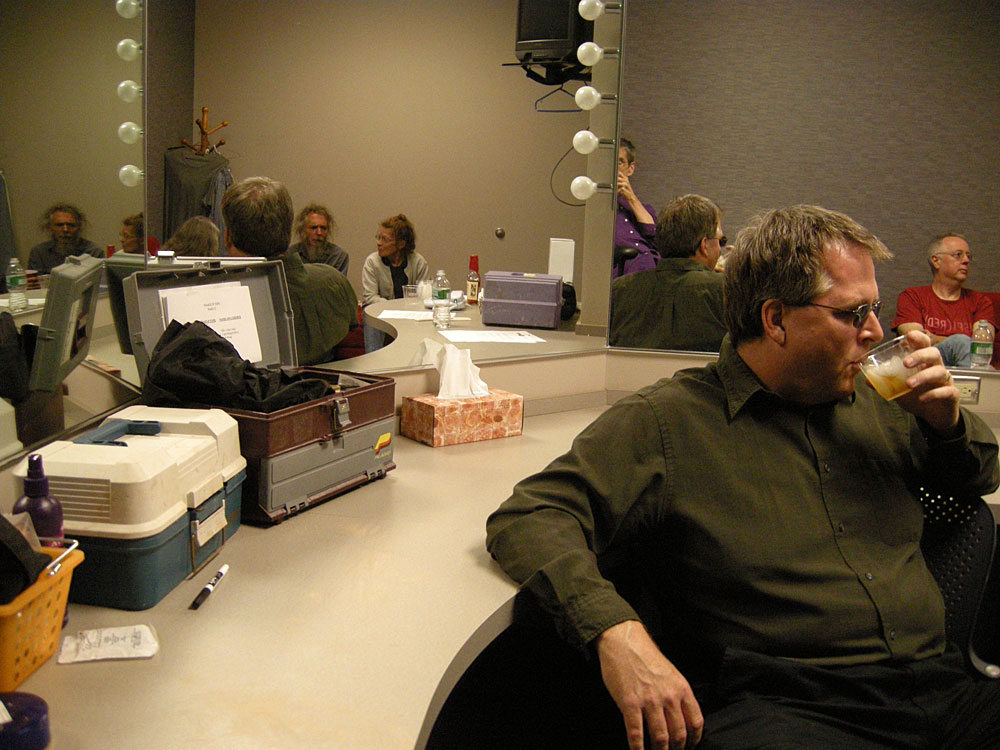 Margaret Explosion in the Green Room at WXXI studios