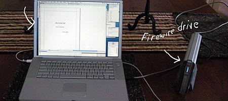 1.5 GHz PowerBook G4 running OS 10.5
