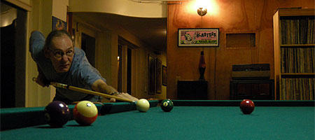 Rick playing pool