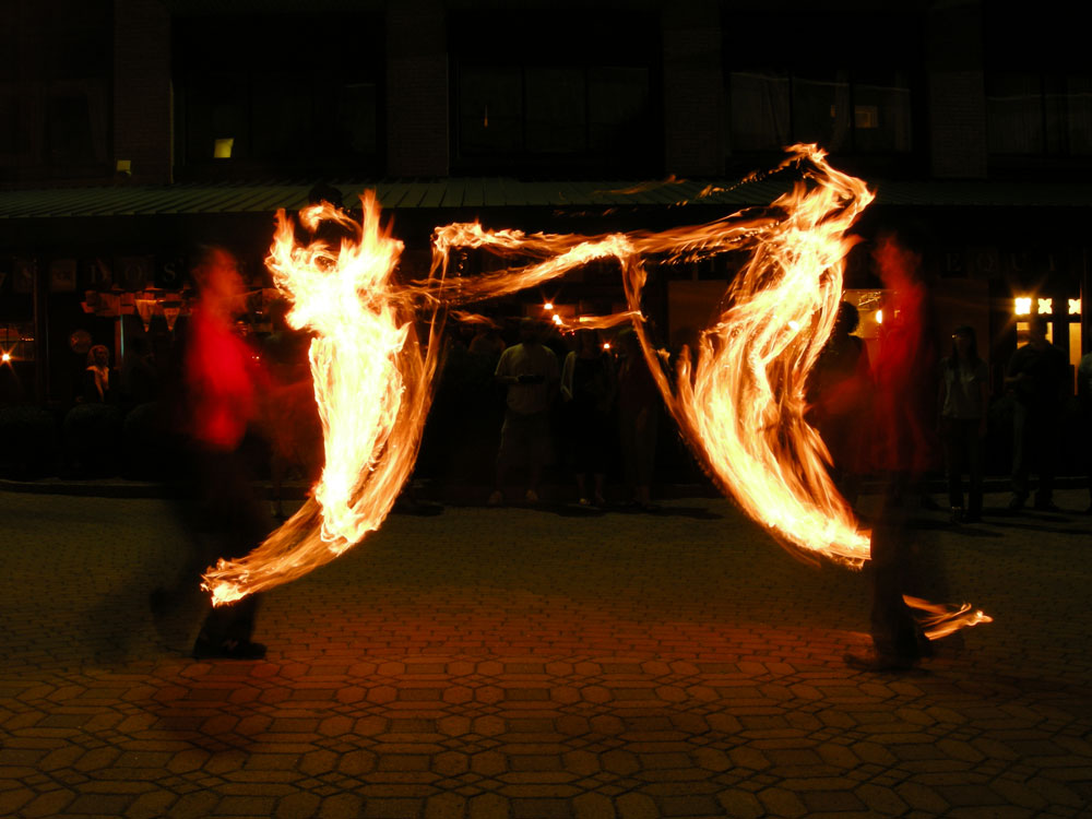 Fire Jugglers at Village Gate in Rochester New York