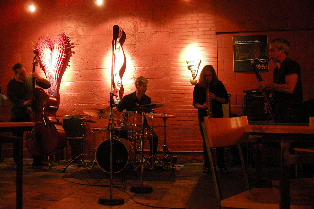 Margaret Explosion at Little Theater Cafe in Rochester, New York