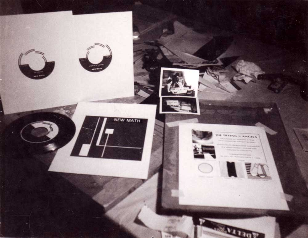 "New Math ""Die Trying"" cover under construction in 1978"