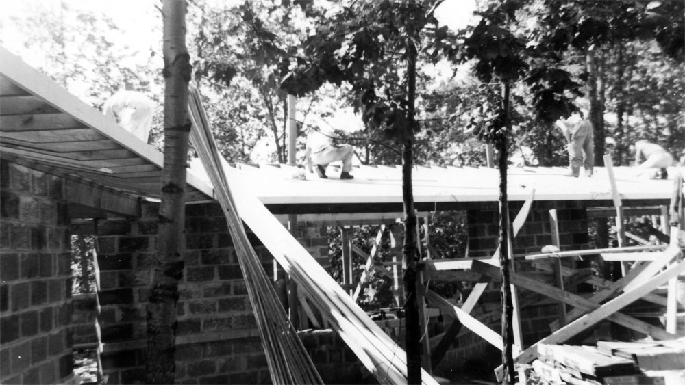 Our house being built in 1948