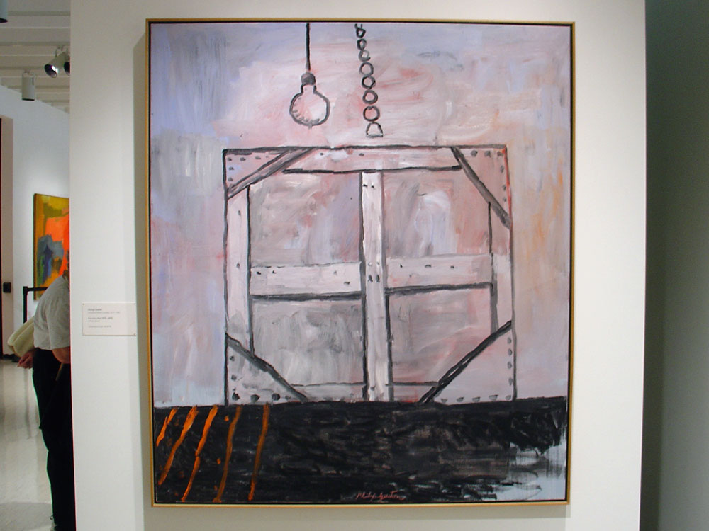 """Philip Guston painting entitled """"Reverse"""" at the Memorial Art Gallery in Rochester, NY"""