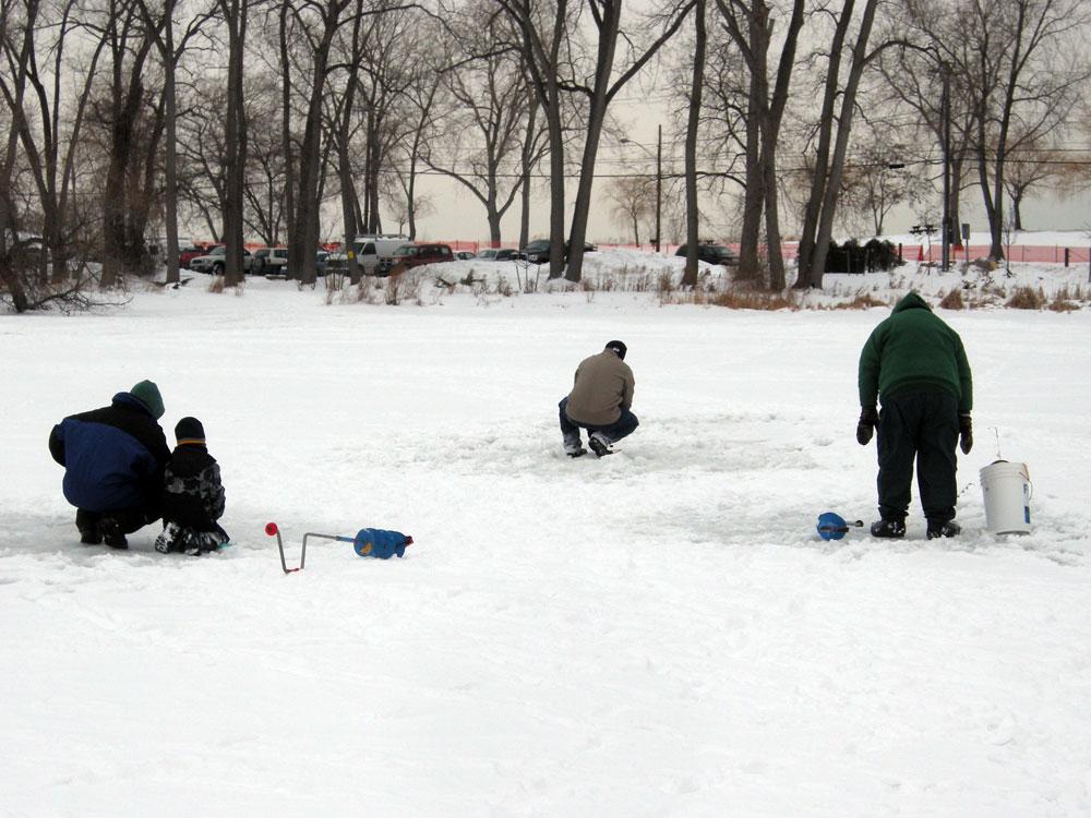 Ice Fishing on Irondequoit Bay