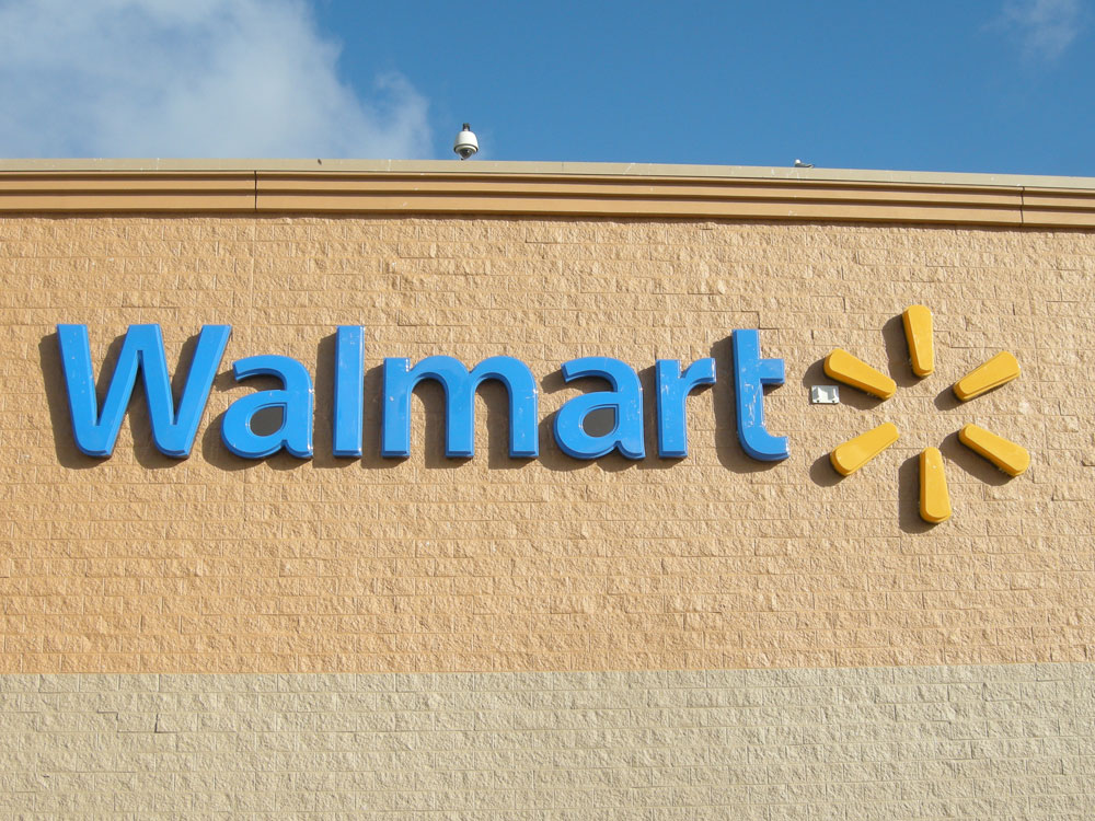 Walmart sign on Hudson Avenue in Rochester NY