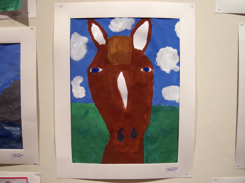 Fifth grader's horse painting, Auburn New York