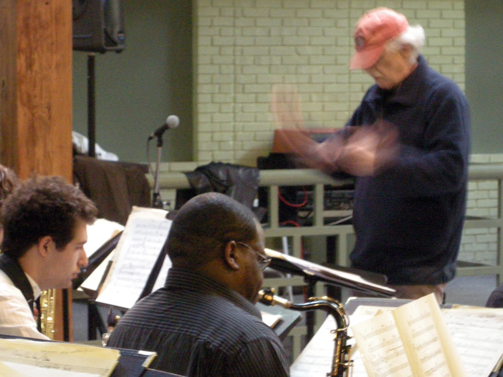 Paul Smoker conducts at the Bop Shop Atrium