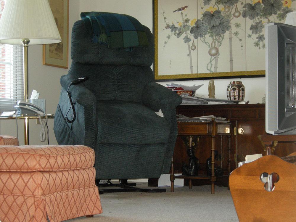 Peggi's mom's chair