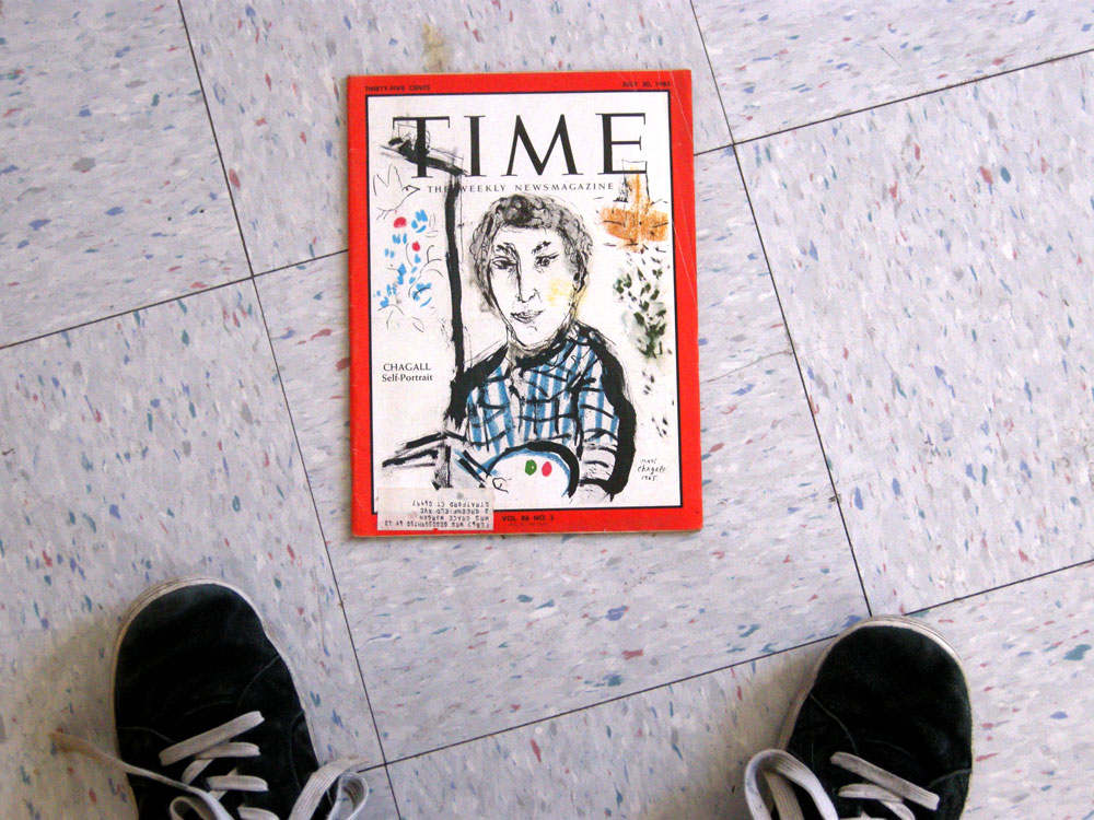 Marc Chagall self portrait on the cover of Time in 1965