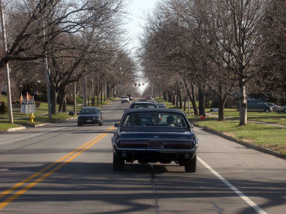 Mercury Cougar cruising on Culver Road in Rochester, NY