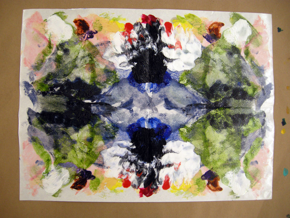 Maureen Owtlaw Rorschach painting