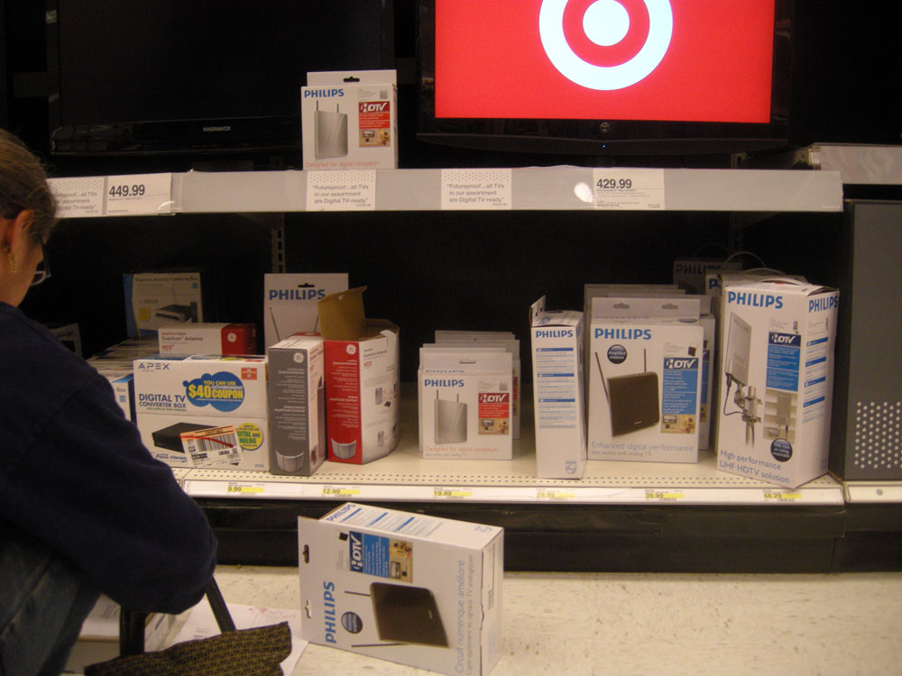 Cashing in our government issued digital TV coupon at Target
