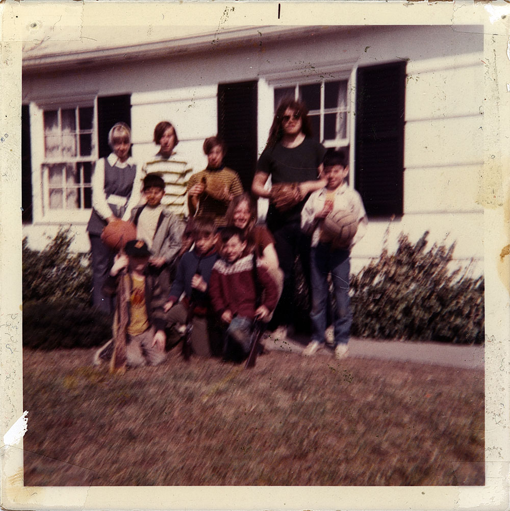 Dodds and friends on Hawley Drive in 1969