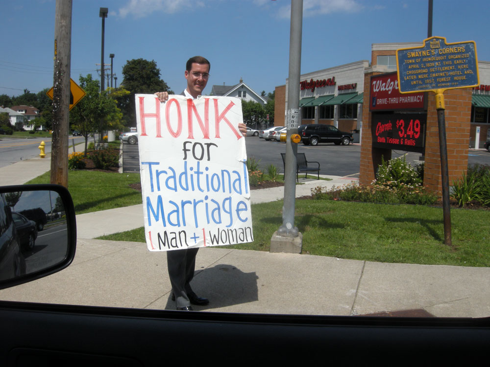 Traditional marriage protesters