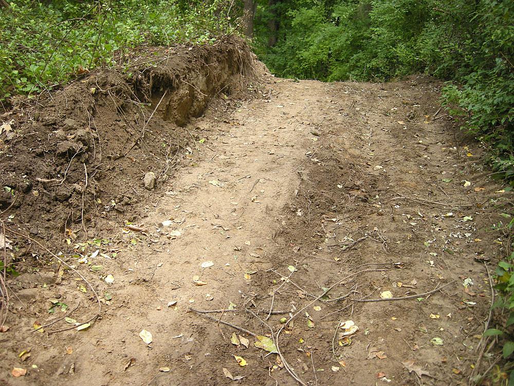 Path that Irondequoit man plowed through Durand Eastman Park