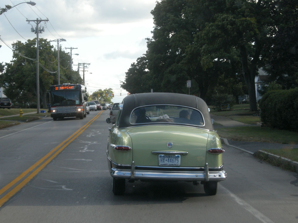 Old green Ford on Culver Road