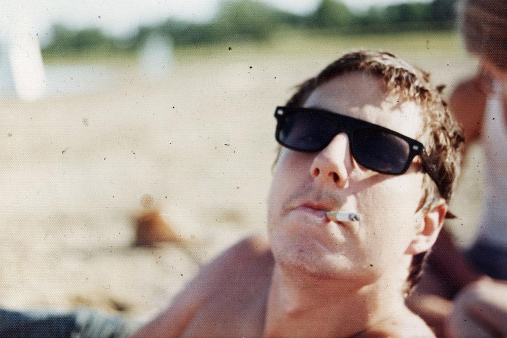 Steve Hoy smoking