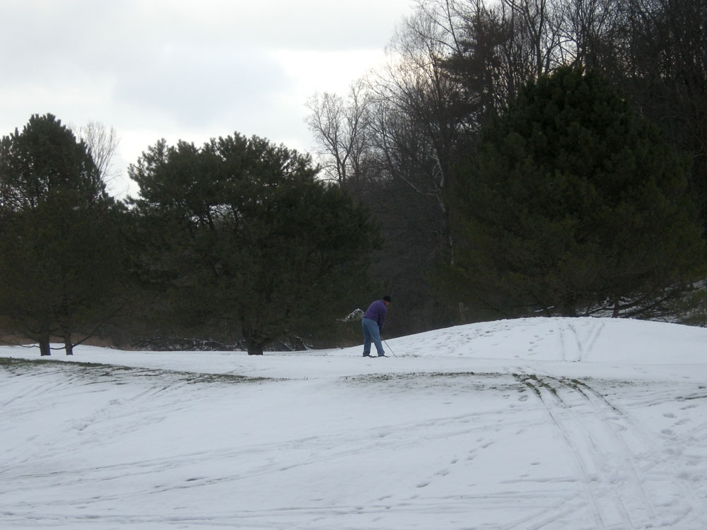 Winter golf at Durand Eastman in Rochester, NY