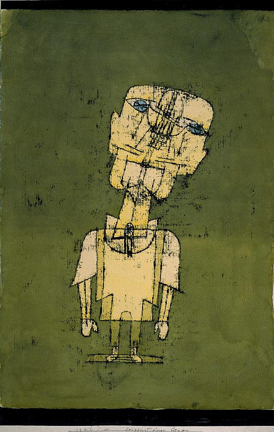 """Paul Klee """"Gespenst eines Genies [Ghost of a Genius]"""" 1922"""