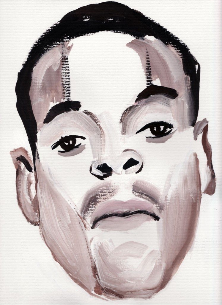 Paul Dodd Crime Face - watercolor 2010