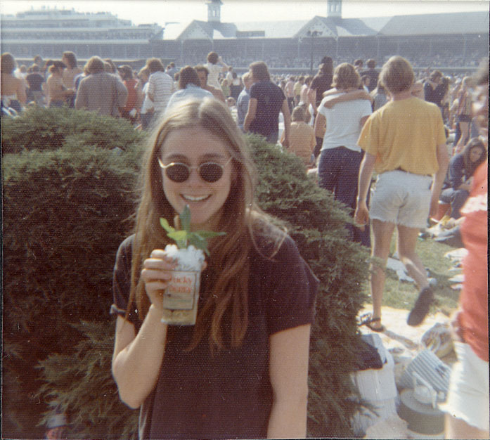 Peggi at the Kentucky Derby on our first date in 1973