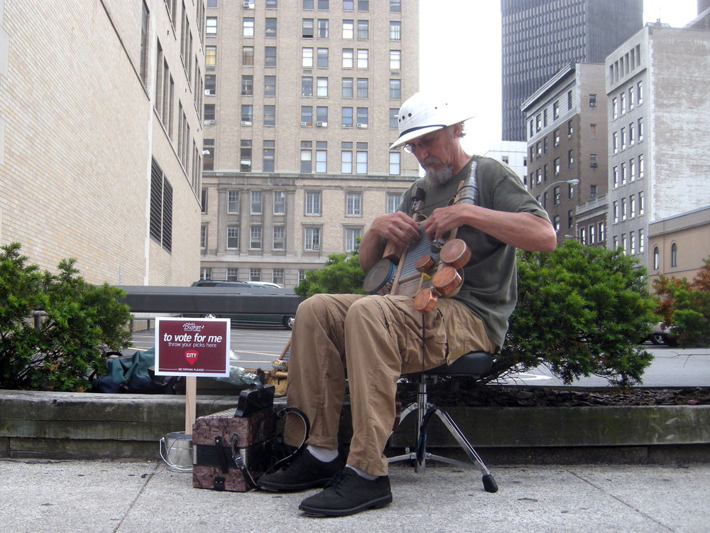 Street musician at the City Busker show in Rochester, NY