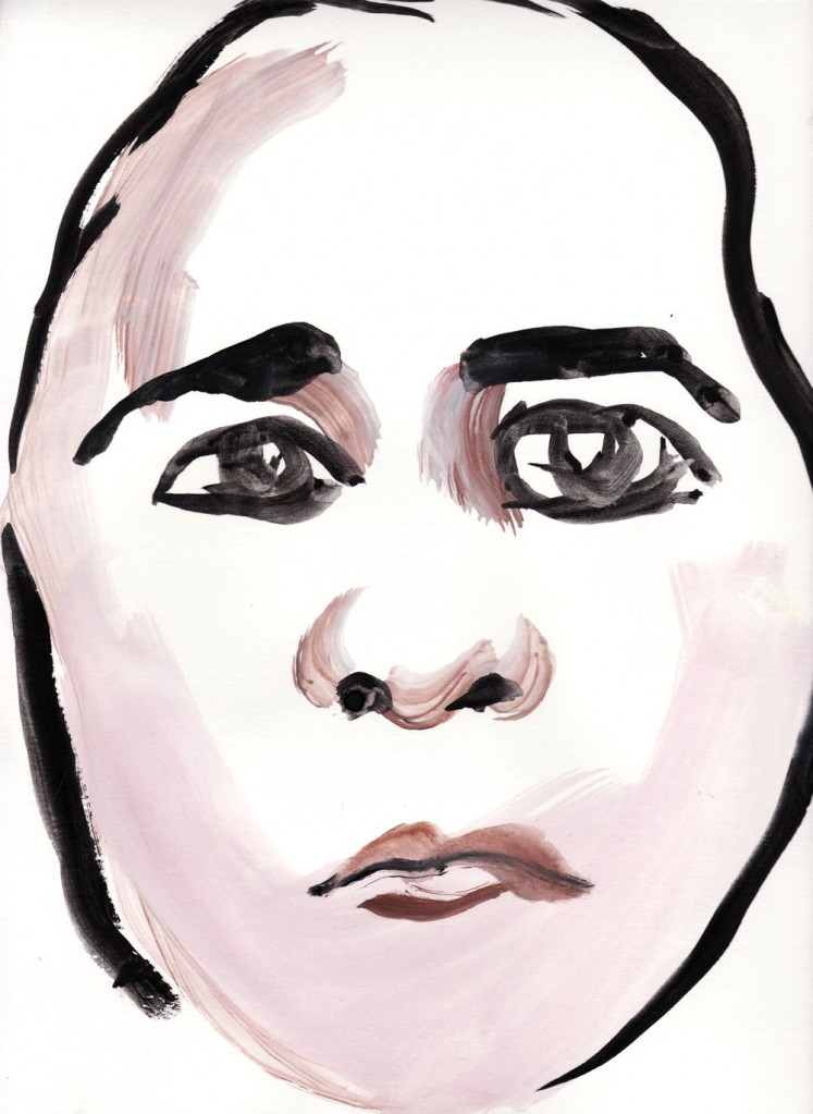 Paul Dodd Crime Face watercolor 2010