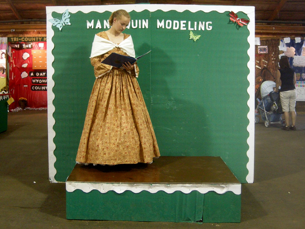 Mannequin modeling at the Wyoming County Fair in Pike New York