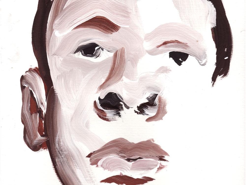Paul Dodd Crime Face Watercolor from September 2010