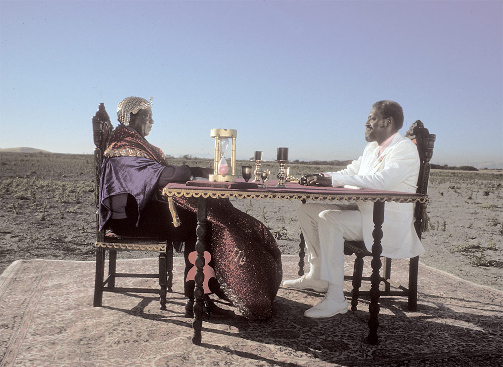 "Still from Sun Ra movie ""Space Is The Place"""