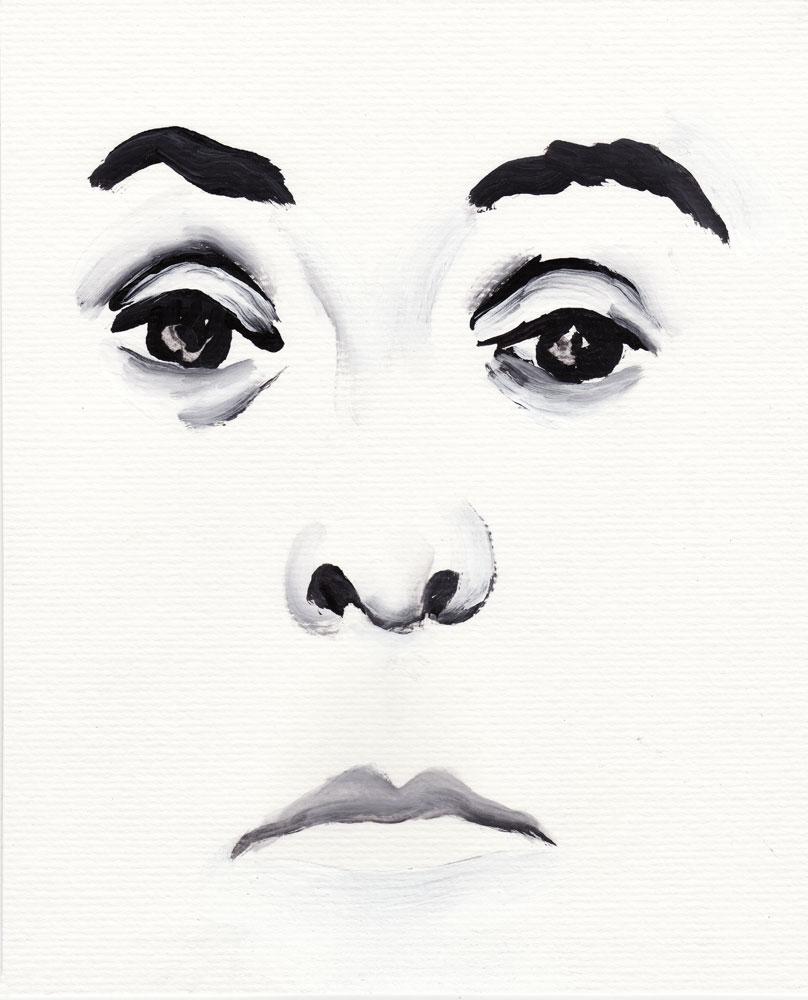 Crime Face 2010 - Watercolor on paper - Paul Dodd
