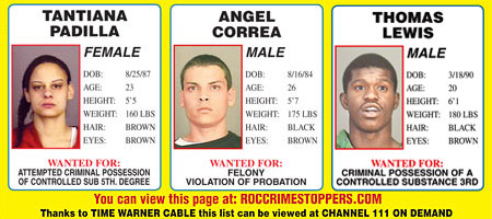 Rochester NY Crime Stoppers December 2010