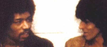 Jimi Hendrix and Keith Richards backstage