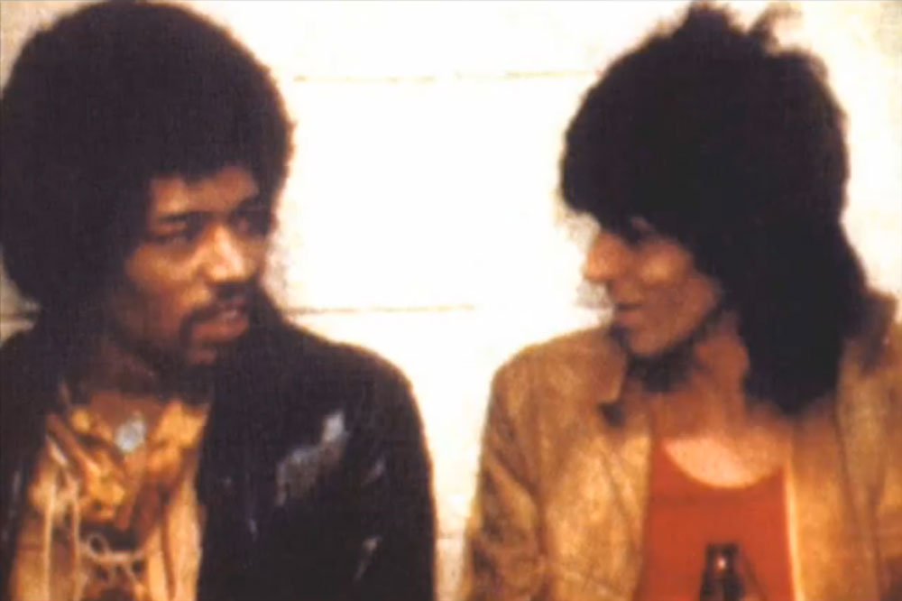 Jimi Hendrix and Keith Richards