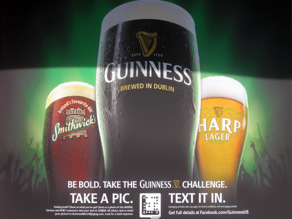Saint Patrick's Day ad at Shamrock Jack's in Rochester, New York