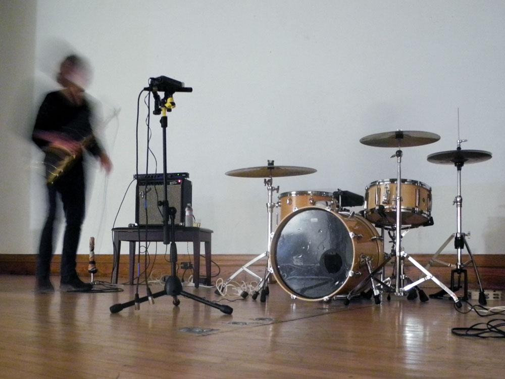 Peggi on stage at Visual Studies Workshop